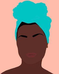 """by Jules Tillman - Fine Art Lustre Portraits """"Ava"""" by Jules Tillman is a minimal, modern portrait of an African American woman.""""Ava"""" by Jules Tillman is a minimal, modern portrait of an African American woman. Black Girl Art, Black Women Art, Art Girl, African American Art, African Art, African Drawings, Photographie Art Corps, Arte Black, Arte Sketchbook"""