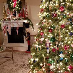 Nutcracker tree and mantel. Nutcracker Christmas, Christmas Tree, Holiday Decor, Home Decor, Teal Christmas Tree, Decoration Home, Room Decor, Xmas Trees, Christmas Trees