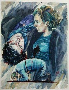 Sherlock: Season 4. Beautiful and tragic fanart by septemberlight13 on Tumblr