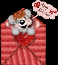 Valentine's Day Animated GIF | Animated picture of Valentine puppy ...