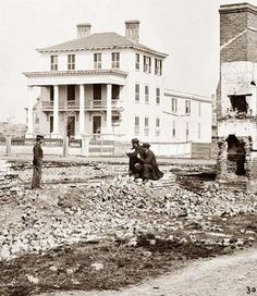 This picture was taken in Charleston, South Carolina at the close of the Civil War (1865). The house pictured is the O'Connor House