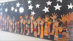 × pixels Source by cherbrownwhite Group Art Projects, Collaborative Art Projects, Classroom Art Projects, Art Classroom, Arte Elemental, Art Bulletin Boards, Hand Art, Elements Of Art, Mural Art