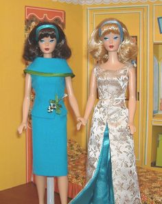This photo was uploaded by Lisa_Barger. Vintage Barbie Clothes, Vintage Dolls, Doll Clothes, Fashion Dolls, Retro Fashion, Girl Fashion, Barbie Dream, Barbie Style, Couture Outfits