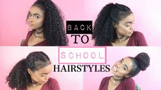 Hairstyles For Curly Hair Back To School - Hairstyles Trends Hairdos For Curly Hair, Curly Hair Styles Easy, Short Curly Hair, Medium Hair Styles, Short Hair Styles, Heatless Hairstyles, Quick Hairstyles, Hairstyles With Bangs, Braided Hairstyles