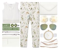 """""""Last Summer Days"""" by rasa-j ❤ liked on Polyvore featuring MANGO, Kate Spade, Monocle, Honora, Neiman Marcus, River Island, womensFashion, LastSummerDays and summer2016"""