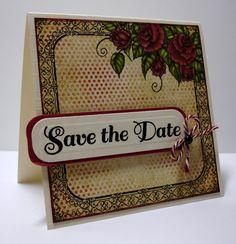 Save the Date card by Oksana Clegg