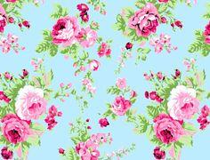 Floral Desenho 283tk- F/ Azul - Ponto X Tecidos