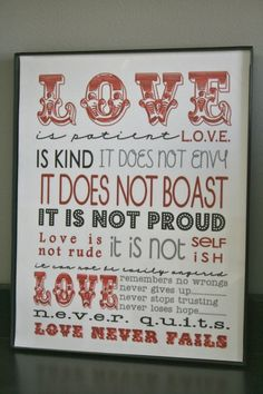 Valentines LOVE Quote in 8x10 Glass Black Frame by Time4Design, $18.00