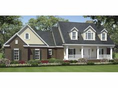 Eplans Country House Plan - Beautiful Styled Country Home - 1624 Square Feet and 3 Bedrooms(s) from Eplans - House Plan Code HWEPL64717