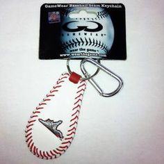 Flying Squirrels Baseball Seam Keychain