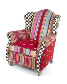 H7P0F MacKenzie-Childs Wee Wing Chair