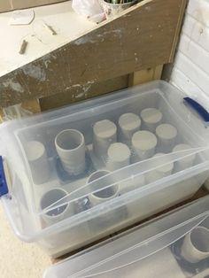 MeghCallie's Art Blog: Make a Clay Damp Box for less than $20!