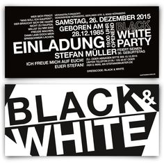 Black And White Party Deko Ideen