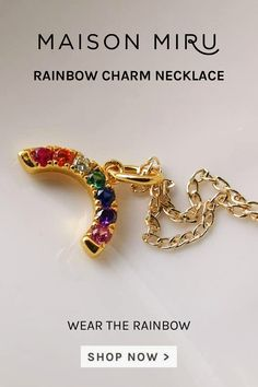 I designed the Rainbow Charm Necklace for those who aren't afraid to think different. It's for those who believe in creativity and an open outlook. Wear it solo, or team it with our initial charms to make your modern heirloom uniquely your own.