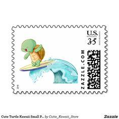 Cute Turtle Kawaii Small Postage Stamp