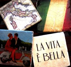 Italian themes coasters from the Taste of Little Italy festival...