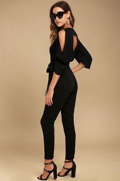 Adelyn Rae Hold Tight Black Jumpsuit 2