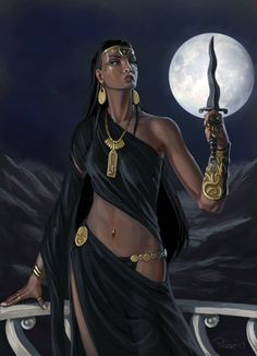 Moon Goddess, The Priestess, Isis Anime Egyptian, Egyptian Art, Fantasy Warrior, Fantasy Girl, Fantasy Characters, Female Characters, Elven Woman, Egypt Concept Art, Egyptian Fashion