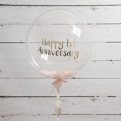 Personalised Paper Anniversary Bubble Balloon by Bubblegum Balloons, the perfect gift for Explore more unique gifts in our curated marketplace. Bubblegum Balloons, Clear Balloons, Confetti Balloons, Helium Balloons, Baby Shower Balloons, 1st Wedding Anniversary, First Anniversary Gifts, Paper Anniversary, Anniversary Parties