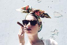 Cult Gaia #cuban #cigar #shades