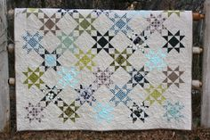 """A Little Bit Biased: Accuquilt - made with the quarter square 4"""" finished triangle die #accuquilt"""