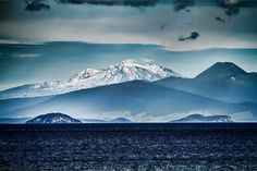 Blue lake, blue mountain by stewartbaird, via Flickr