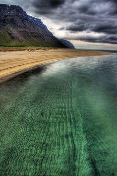 Önundarfjörður Beach, Iceland.