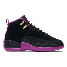 "Air Jordan 12 Retro GS ""Kings"" ❤ liked on Polyvore featuring shoes, jordans and sneakers"