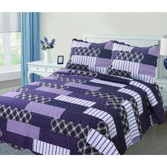 Found it at Wayfair - Reversible Printed Quilt Set Quilt Sets, Bed & Bath, Comforters, Quilts, Blanket, Bedroom, Furniture, Home Decor, Printed
