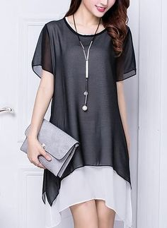 Latest fashion trends in women's Dresses. Shop online for fashionable ladies' Dresses at Floryday - your favourite high street store. Short Women Fashion, Womens Fashion, Latest Fashion, Look Fashion, Fashion Tips, Fashion Design, Fashion Trends, Fashion Websites, 70s Fashion
