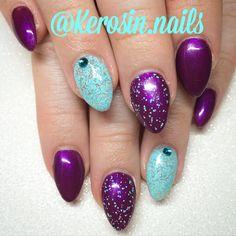 Gel nails pointed nails nail art