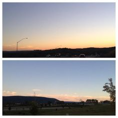An absolutely gorgeous evening in Happy Valley. @MtNittany looks quite pretty with pink clouds as a backdrop. #PAwx