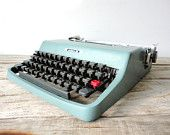 We have an old typewriter in our dining room that we use to communicate back and forth; jokes, simple messages... so fun!