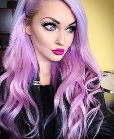 Hairstyles – The Most Crazy Hairstyles- Lila und Lila Farbe Frisuren,… - Balayage Haare Blond Kurz Lilac Hair, Hair Color Purple, Cool Hair Color, Blonde Color, Hair Colors, Long Purple Hair, Purple Lilac, Pastel Hair, Green Hair