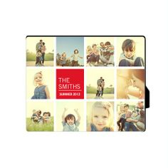 Family Collage Squares Desktop Plaque with a built-in easel to style your favorite photos for any flat surface for $29.99, Shutterfly.com
