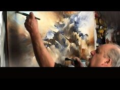 Michael Lang: painting 'the Edge' Modern contemporary abstract art Mix Lang How to DEMO