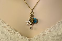 Travelers Charm Necklace Pilot Stewardess or World by Gemsicles