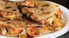 Try this simple, healthy, chipotle shrimp quesadilla recipe that will satisfy your Mexican food craving with half the calories of a restaurant version. Healthy Mexican Recipes, Fish Recipes, Seafood Recipes, Cooking Recipes, Healthy Food, Healthy Quesadilla Recipes, Recipies, Healthy Meals, Healthy Eating