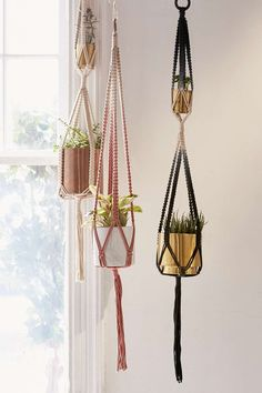 Serena Ombre Macrame Hanging Planter - Urban Outfitters