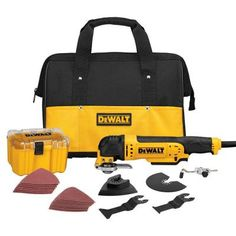 DEWALT 3-Amp Oscillating Multi-Tool Kit (29-Piece)-DWE315K at The Home Depot