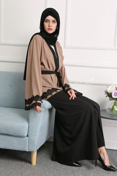 FREE SHIPPING (PLEASE ALLOW 12-21 BUSINESS DAYS) - Material: polyester, lace - V-neck neckline - Loose Silhouette - Solid pattern - Natural waistline - It is long-sleeved, floor-length type of outfit - Is a simple, loose over-garment, essentially a robe-like dress. - Have a flared sleeves - Gorgeous laces on both sleeves - Breezy fabric makes it a perfect pick for such a momentous occasion. - Your daily activities take on a simplistic vibe with this Aalia Floor-Length Maxi Dress accompanying…