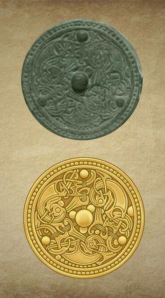 Not Celtic but early Viking, by Notis Compungo Art Viking Designs, Celtic Designs, Ancient Jewelry, Viking Jewelry, Viking Embroidery, Nordic Tattoo, Viking Art, Dragon Tattoo Designs, Norse Vikings