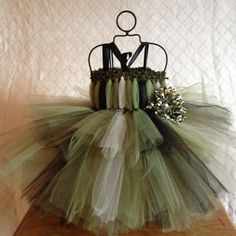 Sparkle Camo Baby Tutu Dress for Portraits Photo by TheFabuTutu, $30.00