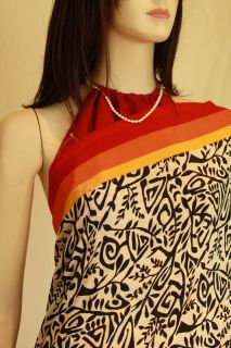 Beautiful Black and white synthetic saree with striking contrast of red yellow borad lines in the border. This saree is very delicate, light weight, shines and feels soft as like silk. Saree needs a blouse and silky petticoat. Please add measurements in notes when you buy these optional items and we can custom make it for you.