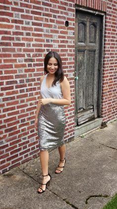 Love, Ludy: Grey Sequins skirt
