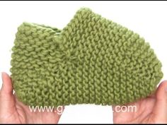 DROPS Knitting Tutorial: Knitted slippers in stripes and garter stitch - YouTube