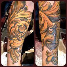 Color Filigree Tattoo