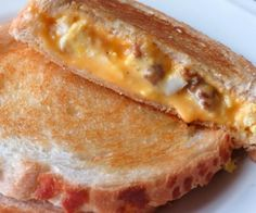 Sausage and Egg Grilled Cheese Sandwich.