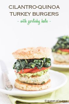 Cilantro-Quinoa Turkey Burgers from @alyssarimmer | #glutenfree #healthy | recipe on simplyquinoa.com