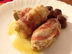 Involtini di lonza con pistacchi e pancetta